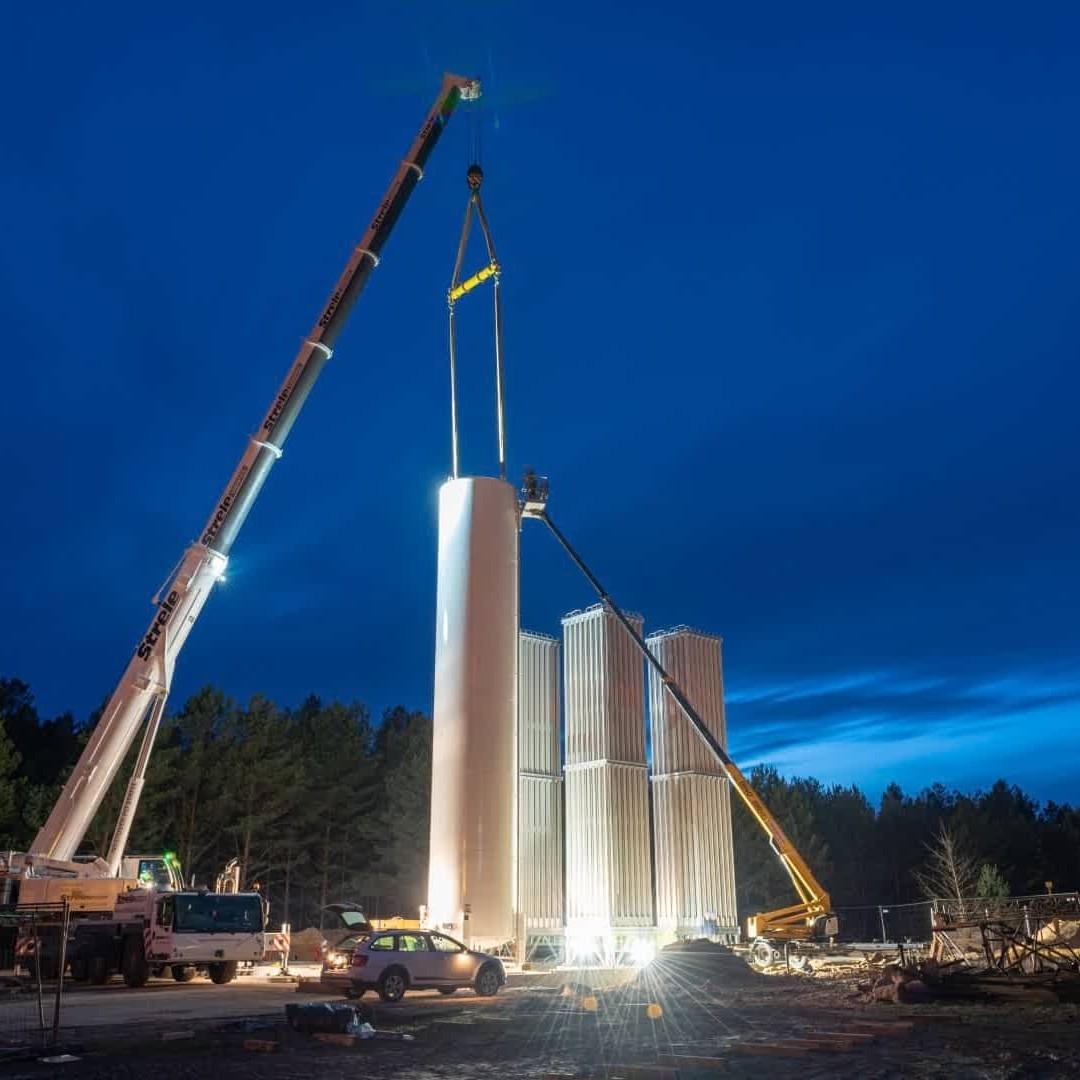 Installation of LNG Evaporation Station in Druskininkai